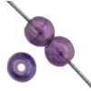 Glass 4mm Amethyst Multi Aurora Borealis Round Luster - Strung